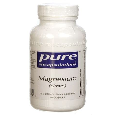 Magnesium Glycinate As A Detox by Encapsulations Magnesium Citrate 90 Vcapsules