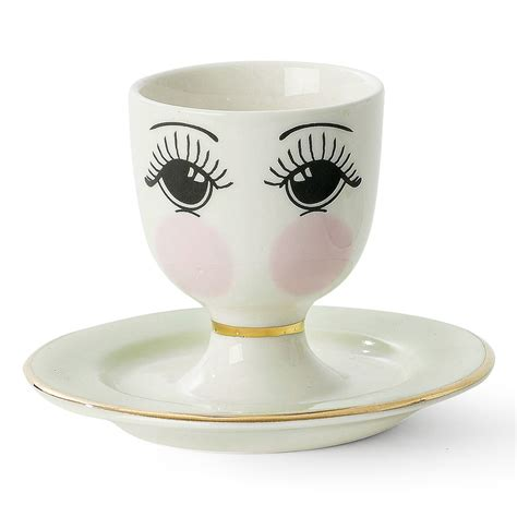Cup On The Plate buy miss 201 toile egg cup plate with set amara