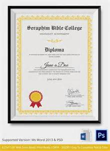 High School Diploma Template Free by Doc 585435 Diploma Template Word Word Certificate