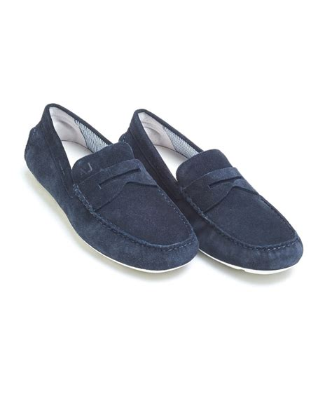 navy mens loafers armani mens driving shoes navy blue suede loafers