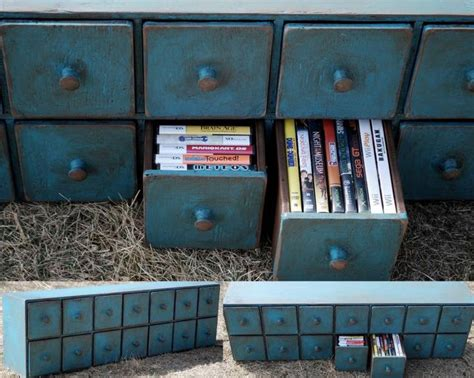 Video Game Storage Cabinet 14 Drawer Cd Dvd Video Game Cupboard Apothecary Cabinet