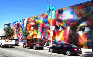 Wall Murals Los Angeles Kobra New Mural On N Highland Ave In Los Angeles Usa