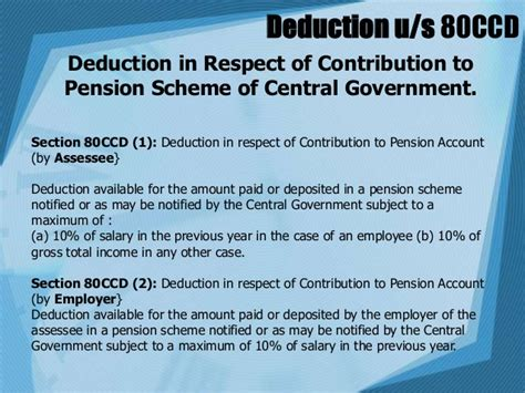 Deduction Section 80ccd by Deductions From Gross Total Income