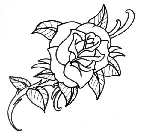 hot tattoo outlines hot tattoos for girls outline old school rose outline by