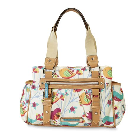 lily bloom triple section satchel lily bloom women s triple section handbag birds