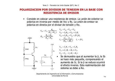 transistor de union bjt tema 3 transistores de union bipolar bjt