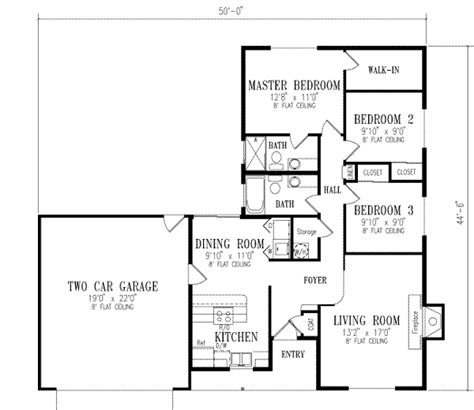 1150 sq ft house plans ranch style house plan 3 beds 2 baths 1150 sq ft plan 1 183