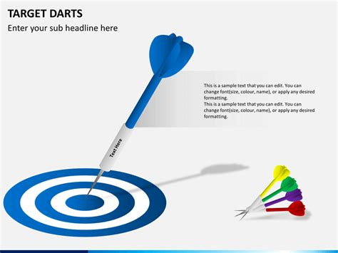 target powerpoint template target darts powerpoint template sketchbubble