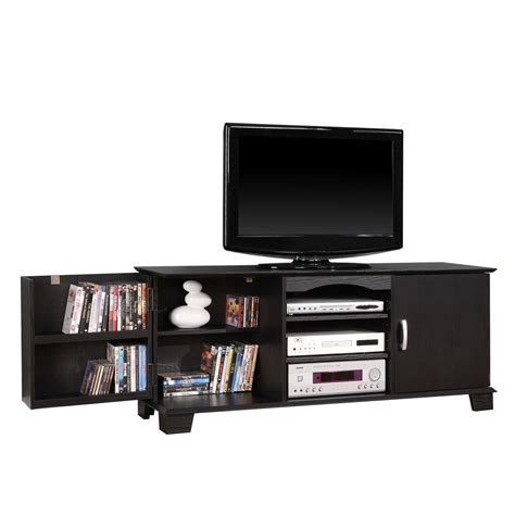 60 inch media cabinet 60 inch wood tv stand with media storage by walker edison in tv stands