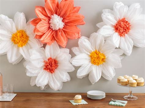 Martha Stewart Crafts Paper Flowers - martha stewart tissue paper pom pom kit light