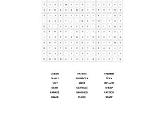 St Search St Patricks Day Word Search