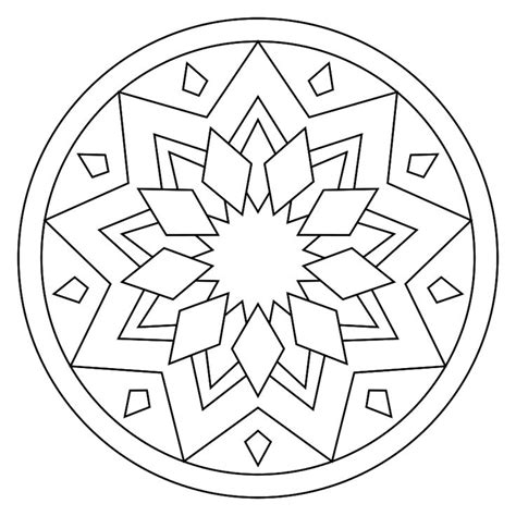 coloring pages mandala simple printable mandala school mandalas simple