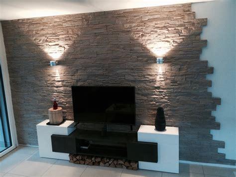 wandgestaltung steine wohnzimmer k 252 hles wohnzimmer wand struktur zweifarbige wandgestaltung