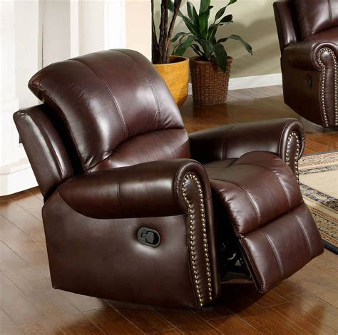 italian recliner chairs abbyson living broadway premium top grain leather