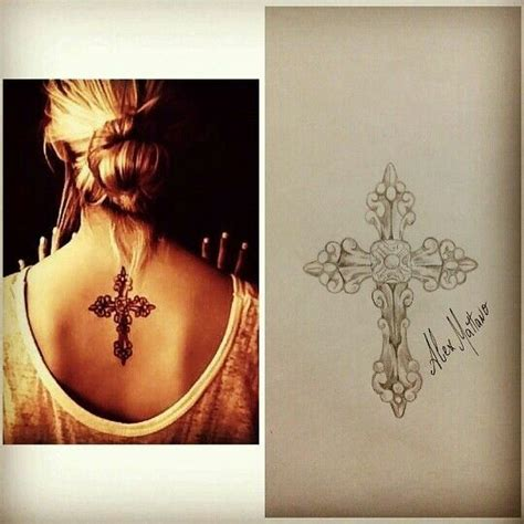 cross tattoo on shoulder girl the 25 best ideas about middle back tattoos on pinterest