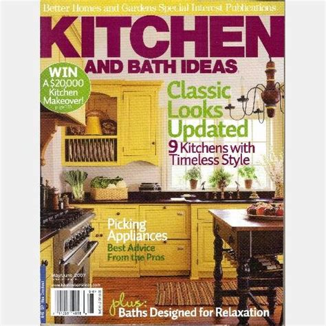 bhg kitchen and bath ideas better homes gardens kitchen and bath ideas may june 2007
