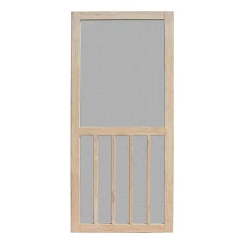 Screen Doors Home Depot Exterior Door Unique Home Designs 36 In X 80 In Aspen Unfinished Pine Outswing Wood Hinged Screen Door