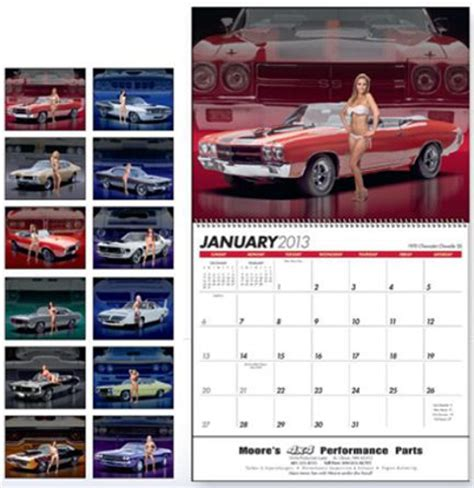 Inexpensive Custom Calendars Custom Personalized Auto Calendars Promotional Car