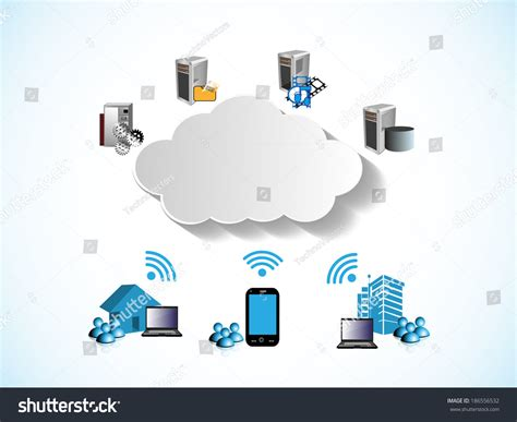 vector illustration data cloud stock vector