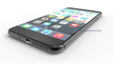 iphone 7 plus space black version with capacitive home button gets 3d render concept