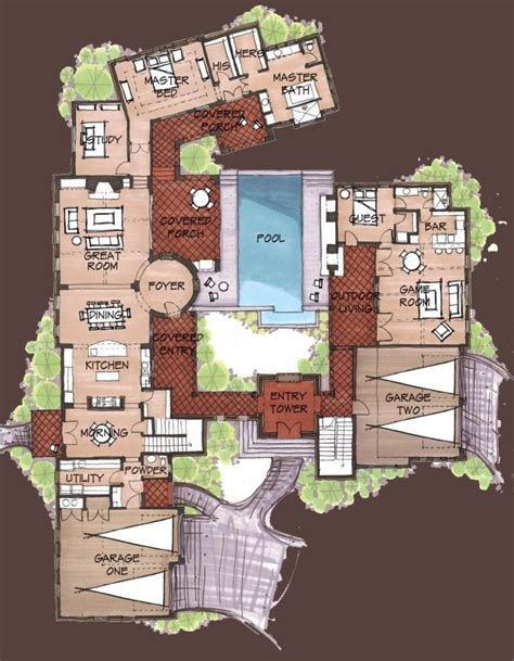 spanish hacienda floor plans with courtyards hacienda style homes spanish hacienda floor plans
