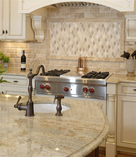 Cascade Window Treatments - kashmir gold granite counterops traditional kitchen other metro by m s international inc