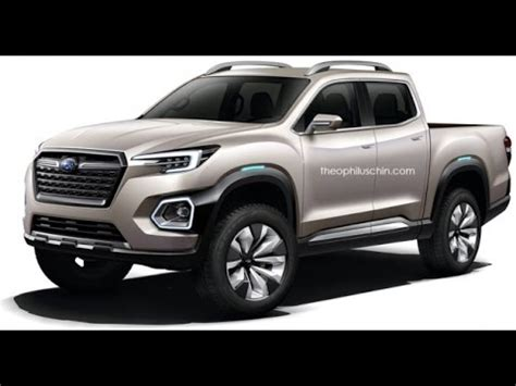 2017 subaru pick up rendered, based on viziv 7 concept