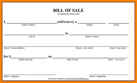 bill of sale automobile template 10 sle bill of sale for car lease template