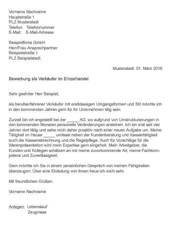 Bewerbungsanschreiben Als Verk Uferin Teilzeit muster gt bewerbung als verk 228 ufer