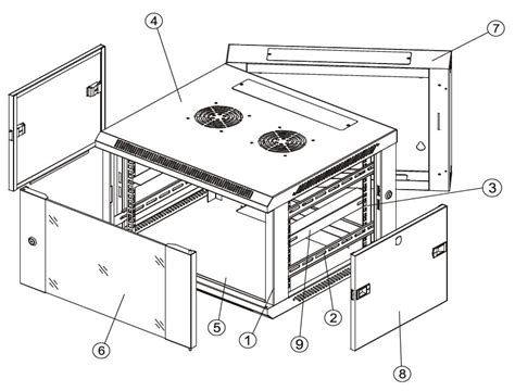 Rack Cabinet Dimensions by 9u Rack Cabinet Dimensions Mf Cabinets