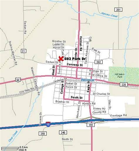 weimar texas map map