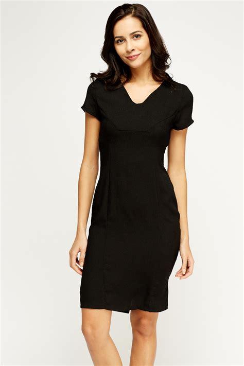 black pencil dress just 163 5