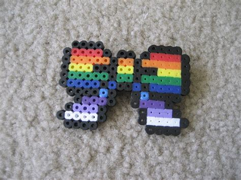 perler bead bow items similar to rainbow perler bead bow on etsy