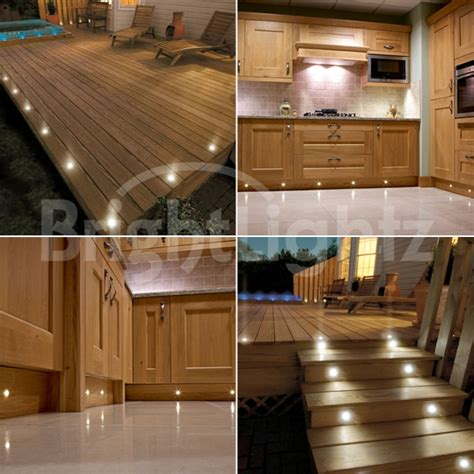 kitchen light sets set of 10 led deck lights decking plinth kitchen lighting set warm white 30mm