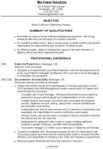 Resume Sample for a Senior Software Engineer   Susan