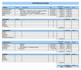 Budget Template Excel by Event Budget Excel Templates