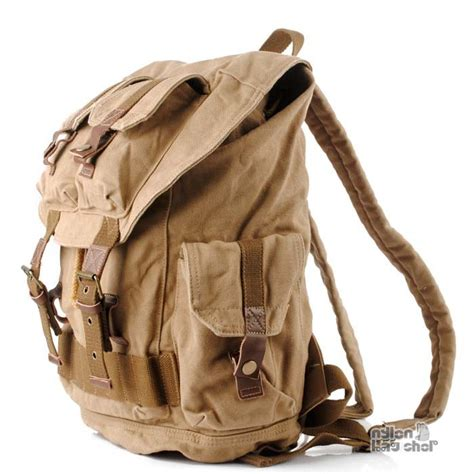 cool backpack drawstring backpack khaki hiking backpack