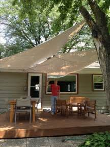 Patio Awning Replacement Canvas Diy Deck Awning With Painters Drop Cloth Canvas Grommets