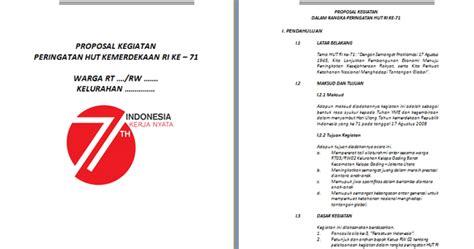 contoh format proposal rutilahu contoh proposal kegiatan 17 agustus contoh raffa