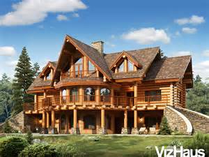 Wooden canadian house