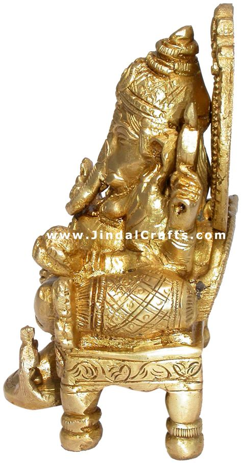 Handmade Sculpture - indian god ganesh handmade brass sculpture hindu