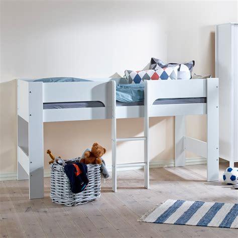 heidi mid sleeper in white single beds cuckooland