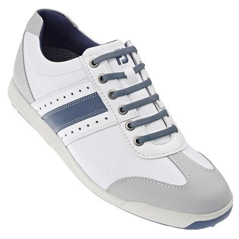 footjoy mens contour casual spikeless golf shoes white