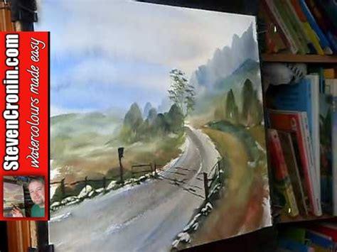 watercolor landscape tutorial youtube watercolour landscape painting demonstration featuring tay