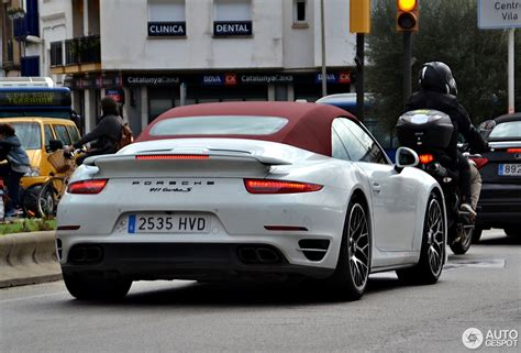 porsche cabriolet turbo porsche 991 turbo s cabriolet 5 march 2017 autogespot