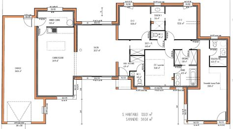 Plan Pavillon 100m2 by Design Maison Moderne Tunisie Maison Moderne