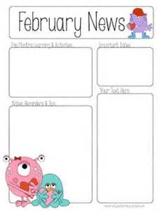 valentines newsletter template 1000 images about preschool newsletter on