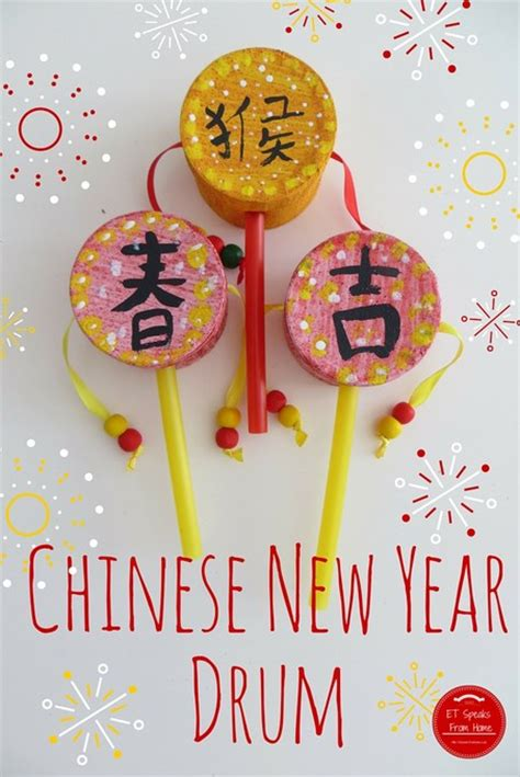 new year drum educational craft ideas for on