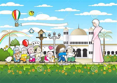 background taman kanak kanak islam  background check