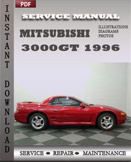 1996 mitsubishi 3000gt service manual free download 1991mitsubishi 3000gt twin turbo factory mitsubishi 3000gt 1996 free download pdf repair service manual pdf